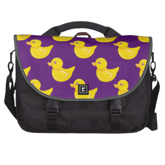 Purple and Yellow Rubber Duck, Ducky Computer Bag