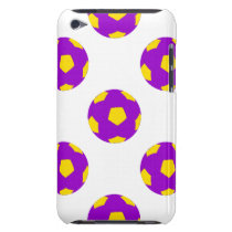 Purple and Yellow Soccer Ball Pattern Case-Mate iPod Touch Case