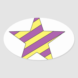 purple and yellow star stickers