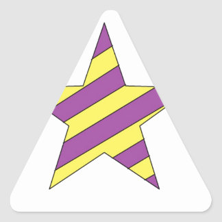 purple and yellow star triangle stickers
