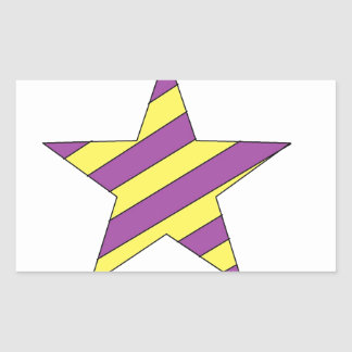 purple and yellow star rectangle stickers