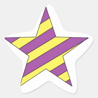 purple and yellow star sticker