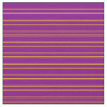 [ Thumbnail: Purple and Yellow Stripes Fabric ]