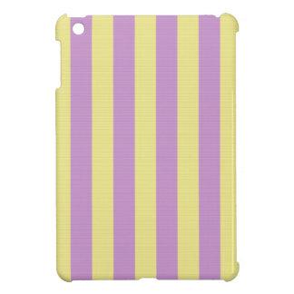Purple and yellow stripes pattern iPad mini covers