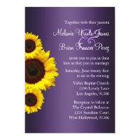 Purple and Yellow Sunflower Wedding Invitation (<em>$2.01</em>)