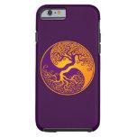 Purple and Yellow Tree of Life Yin Yang Tough iPhone 6 Case