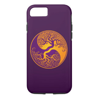 Purple and Yellow Tree of Life Yin Yang iPhone 7 Case