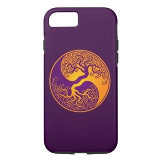 Purple and Yellow Tree of Life Yin Yang iPhone 8/7 Case