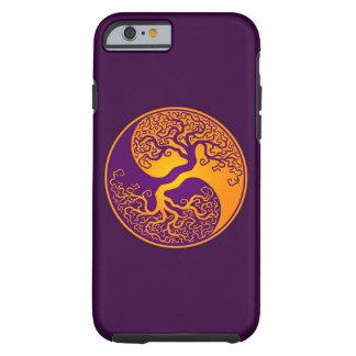 Purple and Yellow Tree of Life Yin Yang Tough iPhone 6 Case