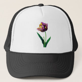 Purple and Yellow Tulip by Redoute Trucker Hat