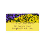 Purple and Yellow Violas Colorful Floral Label