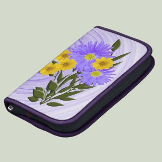 Purple and Yellow Wildflower Photograph Planner