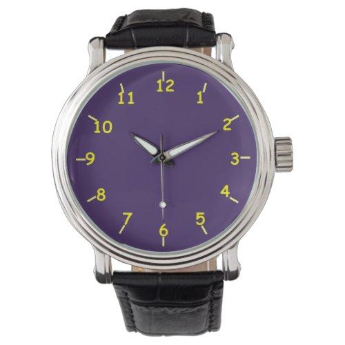 Purple and Yellow Wristwatch