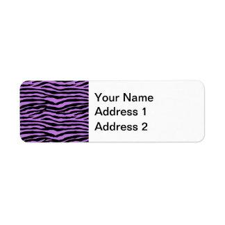 Purple and Zebra Stripes Label