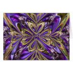 Purple Anemone Abstract Greeting Card