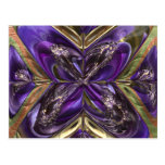Purple Anemone Abstract Post Card