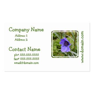 Purple Anemone Flower Business Card Template