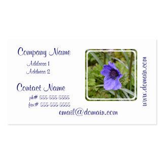 Purple Anemone Flower Business Card