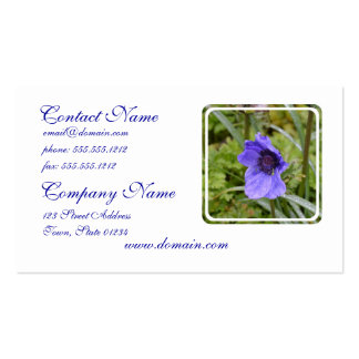 Purple Anemone Flower Business Card Templates