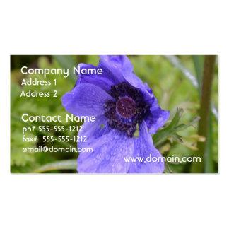 Purple Anemone Flower Business Cards