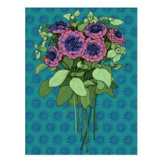 Purple Anenomes Post Card