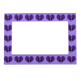 Purple Angel and Heart Magnetic Picture Frame
