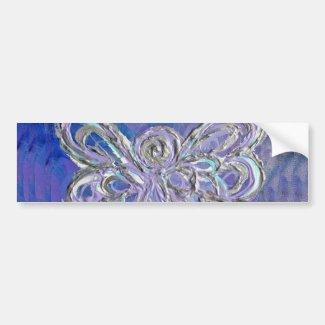 Purple Angel Bumper Sticker