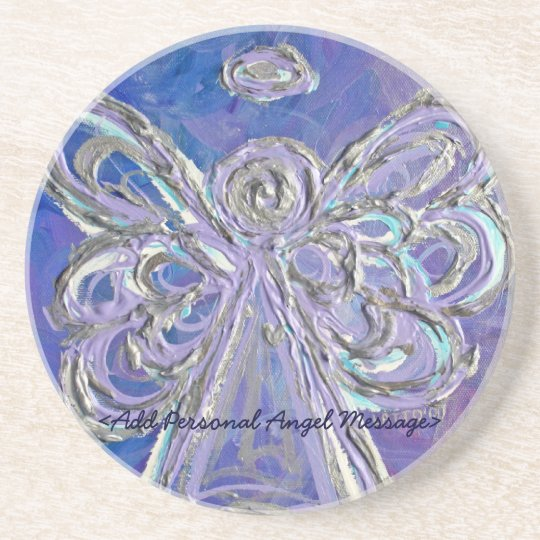 Purple Angel Coaster with Customized Message