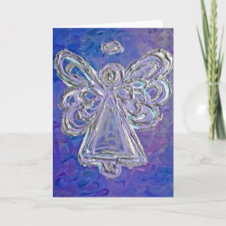 Purple Angel Greeting Card or Note Cards