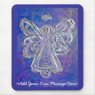 Purple Angel Mousepad with Customized Message