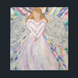 """Purple Angel Notepad<br><div class=""""desc"""">This was painted for my sister during tough times to be her guardian angel and watch over her.</div>"""