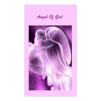 Purple - Angel Of God Daily Prayer Card Double-Sided Standard Business Cards (Pack Of 100)