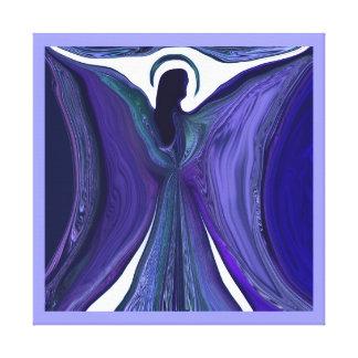 Purple Angel of Love Canvas Print