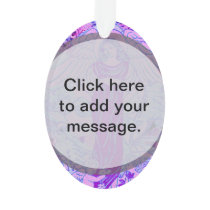Purple angel pattern with flowers ornament