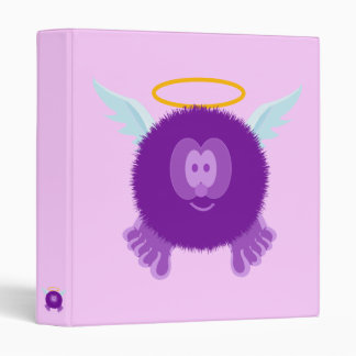 Purple Angel Pom Pom Pal Binder