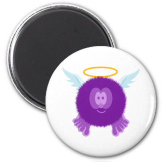 Purple Angel Pom Pom Pal Magnet