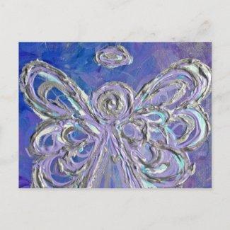 Purple Angel Postcard