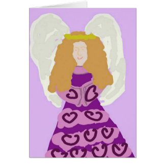 Purple Angel Thank You Notes