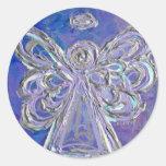 Purple Angel Wings Stickers