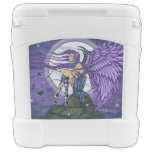 Purple Angel with Big Wings Rolling Cooler