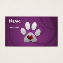 purple Animal Business Cards