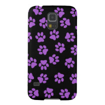 Purple Animal Footprints Galaxy S5 Cover