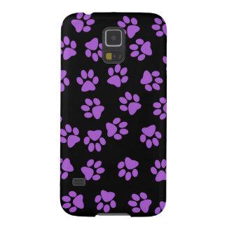 Purple Animal Footprints Galaxy S5 Cover
