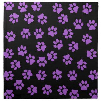 Purple Animal Footprints Napkin