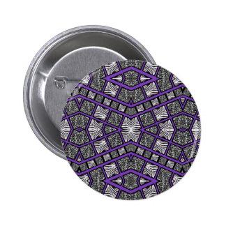 Purple Animal Print Abstract Button