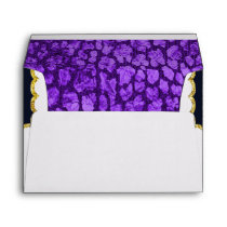 Purple Animal Print Black Gold Envelope