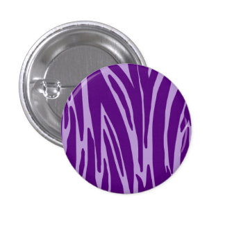 Purple Animal Print Button