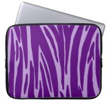 Purple Animal Print Electronics Bag