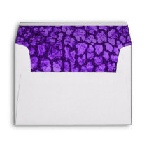 Purple Animal Print Gold Envelope