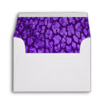 Purple Animal Print Gold Star RSVP Envelope